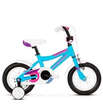 "Детский велосипед Kross Mini 12"" (2019) Blue/Pink/Violet Glossy"