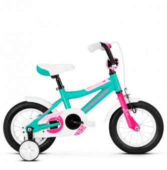 "Детский велосипед Kross Mini 12"" (2019) Turquoise/Pink Glossy"