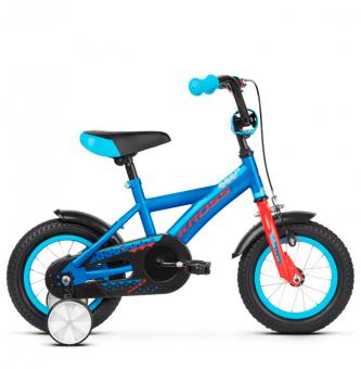 "Детский велосипед Kross Racer 12"" (2019) Blue/Red Glossy"