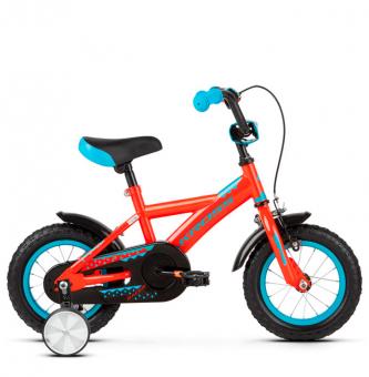 """Детский велосипед Kross Racer 12"""" (2019) Orange/Turquoise/Blue Glossy"""