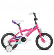 "Детский велосипед Kross Mini 12"" (2019) Pink/Violet/Turquoise Glossy"