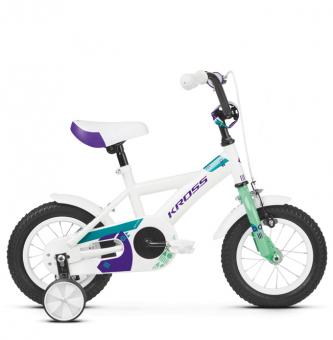 "Детский велосипед Kross Mini 12"" (2019) White/Mint/Violet Glossy"