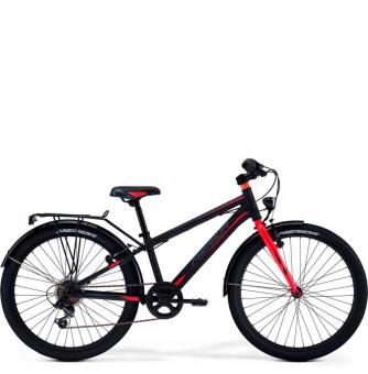 Подростковый велосипед Merida Dino J24 MattBlack/Red (2019)