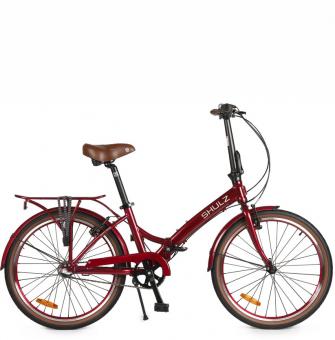 Складной велосипед Shulz Krabi V-brake sangria (2020)