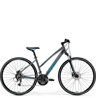 Велосипед Merida Crossway 40-D Lady (2019) DarkSilver/Blue