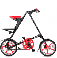 Складной велосипед Strida LT (2019) черно-красный