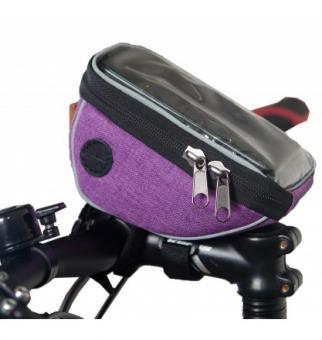 Велосумка Tim&Sport на руль City фиолетовая