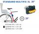 Велокресло Bellelli Little Duck XL с креплением за раму 7