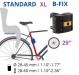 Велокресло Bellelli Tiger с креплением за раму XL 1