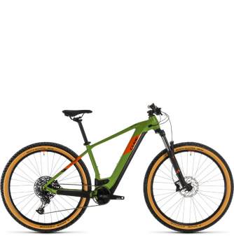 Электровелосипед Cube Reaction Hybrid EX 500 29 (2020) green´n´orange