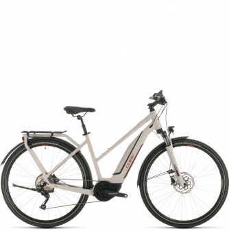 Электровелосипед Cube Touring Hybrid Pro 500 Trapeze (2020) grey´n´red
