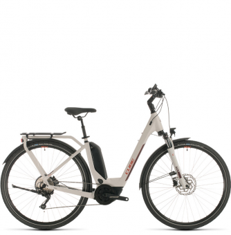 Электровелосипед Cube Touring Hybrid Pro 500 Easy Entry (2020) grey´n´red