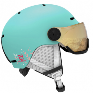 Шлем Salomon GROM VISOR aruba Glossy (2020)