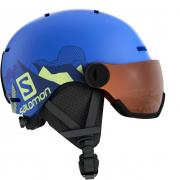 Шлем Salomon GROM VISOR pop blue mat (2020)