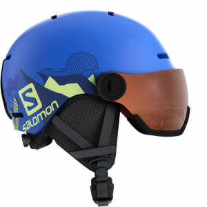 Шлем Salomon GROM VISOR pop blue mat (2020)