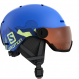 Шлем Salomon GROM VISOR pop blue mat (2020) 1