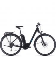 Электровелосипед Cube Touring Hybrid One 400 Easy Entry (2020) black´n´blue