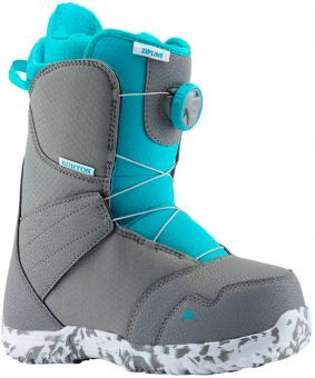 Ботинки для сноуборда Burton ZIPLINE BOA GRAY/SURF BLUE (2020)