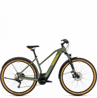 Электровелосипед Cross Hybrid Pro 625 Allroad Trapeze (2020) green´n´orange