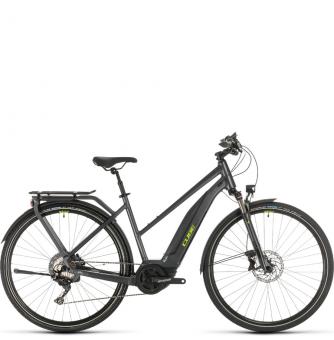 Электровелосипед Cube Touring Hybrid EXC 500 Trapeze (2020) iridium´n´green