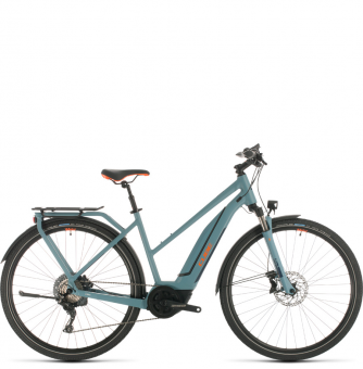 Электровелосипед Cube Touring Hybrid EXC 500 Trapeze (2020) blue´n´orange