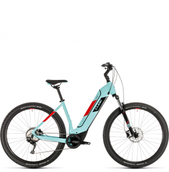 Электровелосипед Cube Nuride Hybrid Pro 625 (2020) glacierblue´n´red