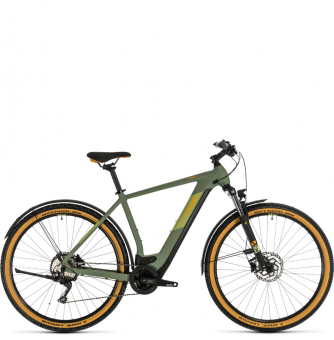 Электровелосипед Cross Hybrid Pro 500 Allroad (2020) green´n´orange