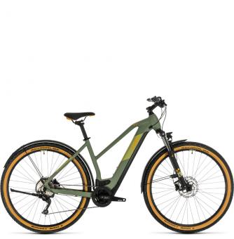 Электровелосипед Cross Hybrid Pro 500 Allroad Trapeze (2020) green´n´orange