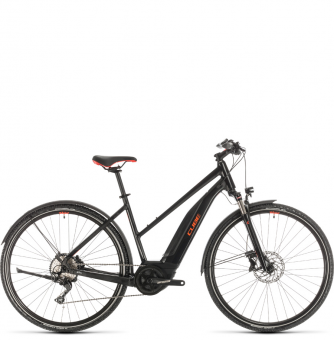 Электровелосипед Cube Nature Hybrid Exc 500 Allroad Trapeze (2020) black´n´red