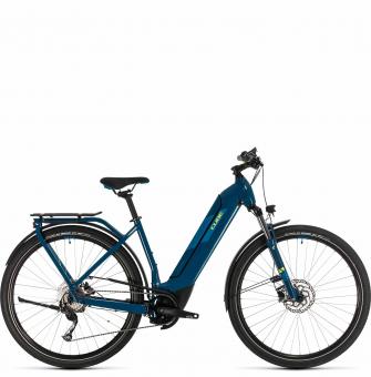 Электровелосипед Cube Kathmandu Hybrid ONE 625 Easy Entry (2020) blue´n´yellow
