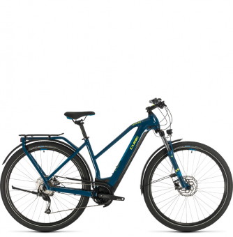 Электровелосипед Cube Kathmandu Hybrid ONE 500 Trapeze (2020) blue´n´yellow