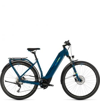 Электровелосипед Cube Kathmandu Hybrid ONE 500 Easy Entry (2020) blue´n´yellow