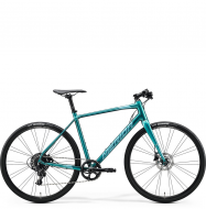 Велосипед Merida Speeder Limited (2020) GlossyGreen-Blue/Teal