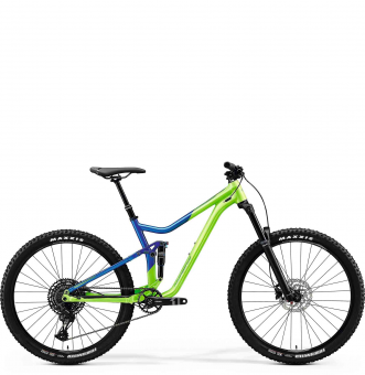 Велосипед Merida One-Forty 400 (2020) Light Green/Glossy Blue