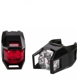 Комплект фонарей Unlimate: передний + задний фонари 2 LED 0.5W