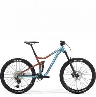 Велосипед Merida One-Forty 600 (2021) SilkBronze/Blue