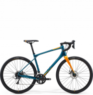 Велосипед гравел Merida Silex 200 (2021) Teal-Blue (Orange)
