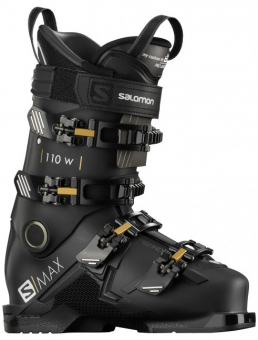 Горнолыжные ботинки Salomon S/Max 110 W Jet black/gold glow metallic/belluga (2021)
