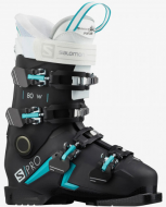 Горнолыжные ботинки Salomon S/PRO 80 W Jet black/scuba blue/white (2021)