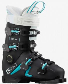 Горнолыжные ботинки Salomon S/PRO 80 W Jet black/scuba blue/white (2021)