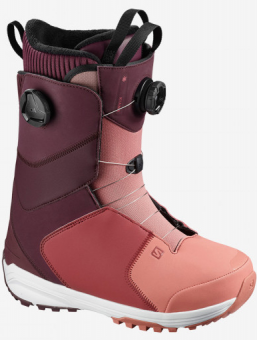 Ботинки для сноуборда Salomon Kiana Focus Boa (2021) Wine tasting/brick dust/apple butter