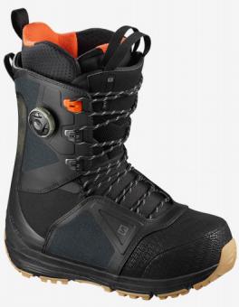 Ботинки для сноуборда Salomon Lo Fi rip stop (2021) Black/black/red orange