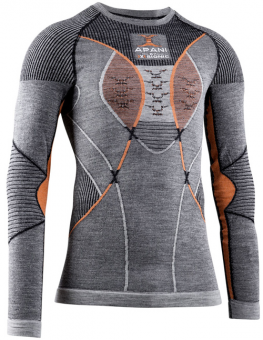 Термобелье X-Bionic кофта Apani 4.0 Merino Shirt Round Neck LG SL Men