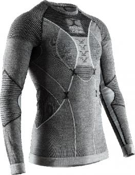 Термобелье X-Bionic кофта Apani 4.0 Merino Shirt Round Neck LG SL Men Black/Grey/White
