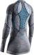 Термобелье X-Bionic кофта Apani 4.0 Merino Shirt Round Neck LG SL WMN Black/Grey/Turquoise 1