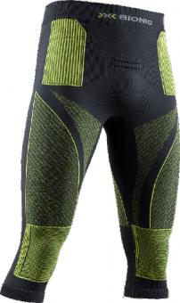 Термобелье X-Bionic штаны Energy Accumulator 4.0 3/4 Charcoal/Yellow