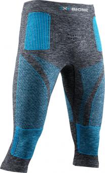 Термобелье X-Bionic штаны Energy Accumulator 4.0 3/4 Melange Dark Grey Melange/Blue