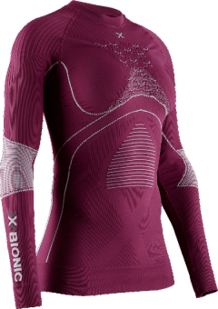 Термобелье X-Bionic кофта Energy Accumulator 4.0 WMN Plum/Pearl Grey