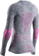 Термобелье X-Bionic кофта Energy Accumulator 4.0 Melange WMN Grey Melange/Pink 1