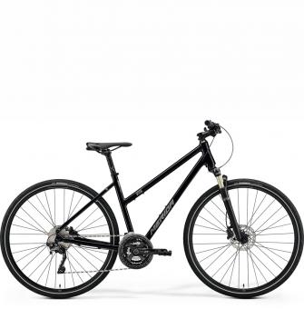 Велосипед Merida Crossway XT Edition Lady (2021) GlossyBlack/MattSilver/Black